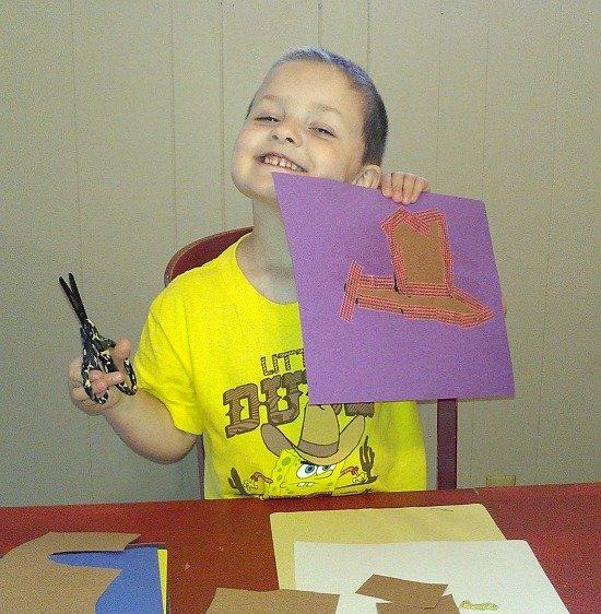 finished paper cowboy hat craft {Crazy Crafts for Kids}