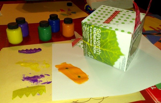 painting the tissue box monster