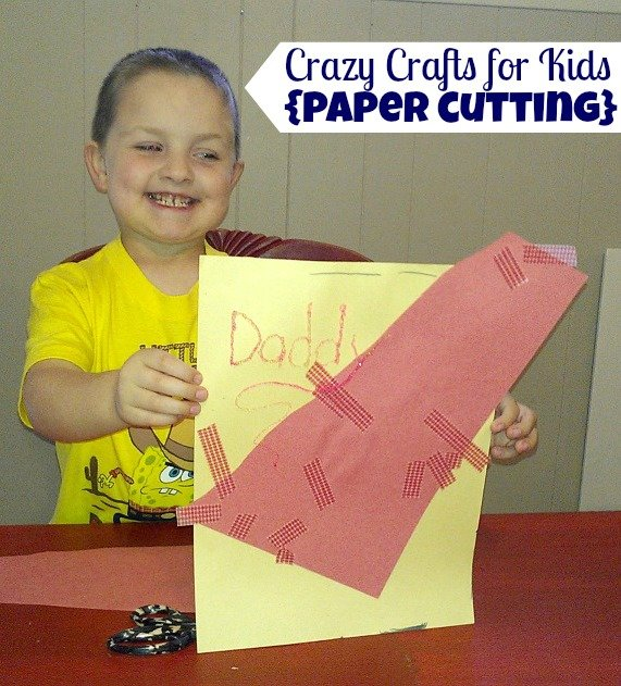 paper cutting craft {Crazy Crafts for Kids} with @JanetGoingCrazy