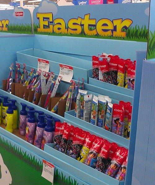 Easter display with Colgate #Colgate4Kids