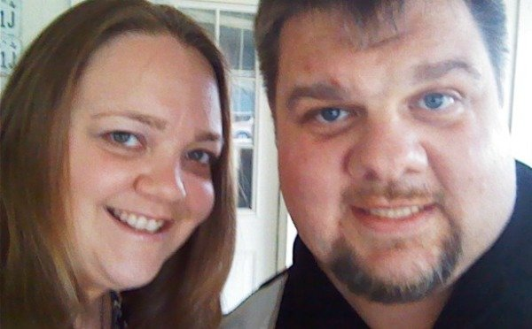 hubby and me going out