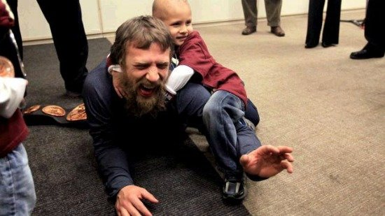 Daniel Bryan meets Connor {Make-A-Wish}
