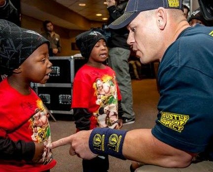 John Cena meets Jamyreon {Make-A-Wish} #wwemoms