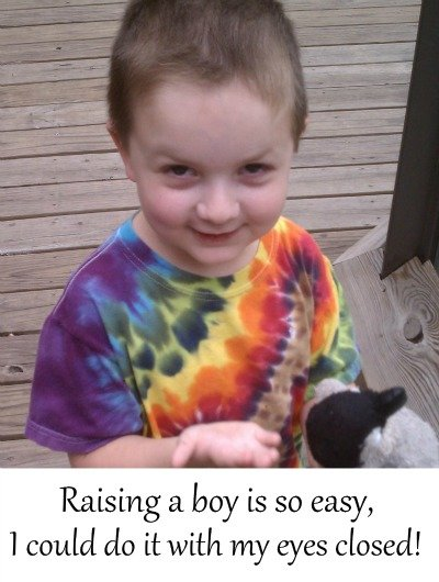 Raising a boy is so easy, I could do it with my eyes closed! #StrongMomsEmpower