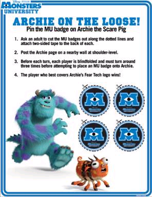 Archie on the Loose Monsters University game
