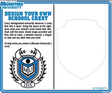 Design Your Own School Crest with Monsters University