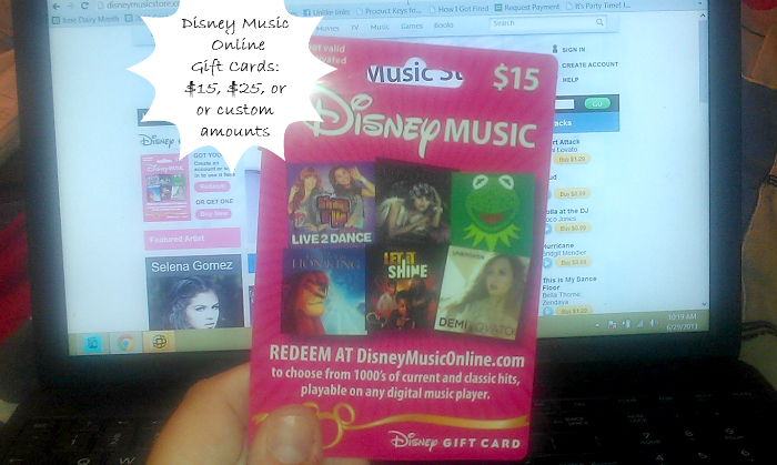 Disney Music Online Gift Cards