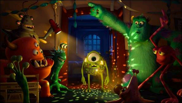Monsters University disco ball Mike