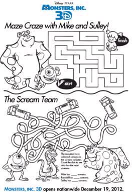 Monsters University maze games