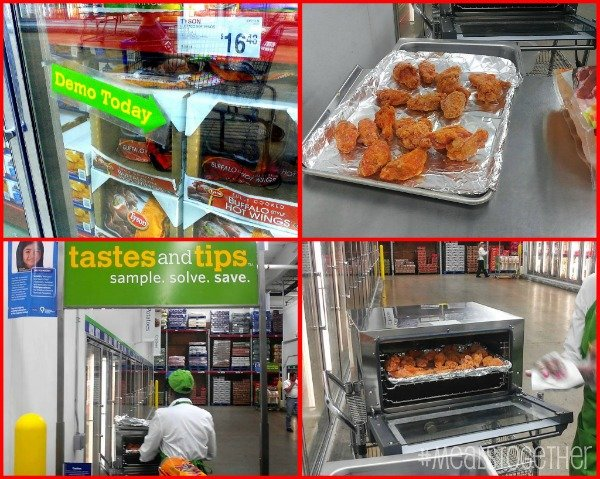 Sam's Club demo-Tyson fully cooked Buffalo Style Hot Wings #MealsTogether #shop #cbias