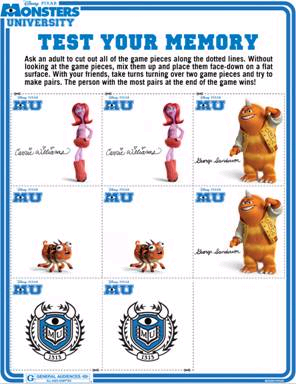 Test your Memory with Monsters University 2