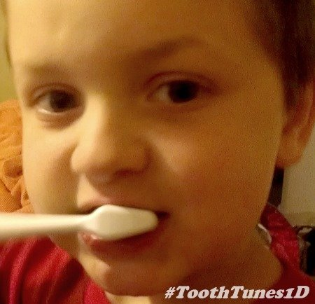 brushing with ARM & HAMMER™ Tooth Tunes™ #ToothTunes1D