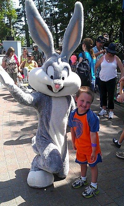 my boy and Bugs Bunny
