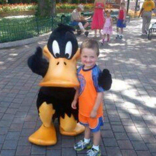 my boy with Daffy Duck