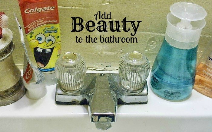 Add Beauty to the bathroom counter