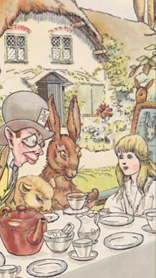AliceWinks tea party
