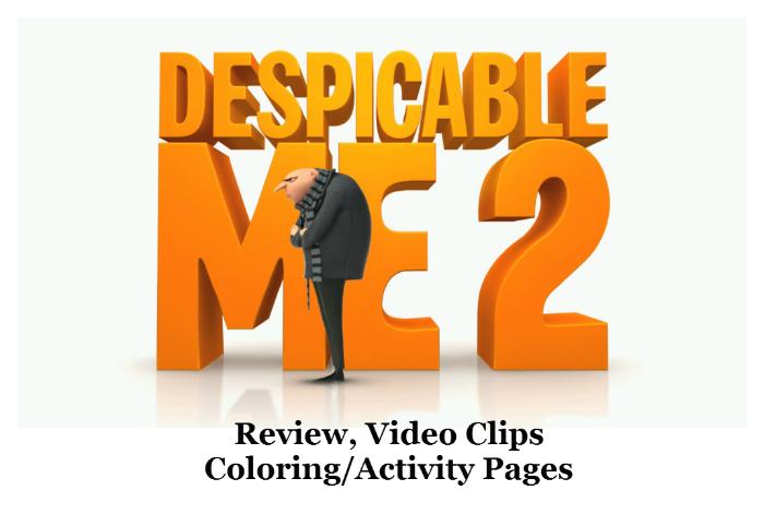 Despicable Me 2 {Review, Video Clips, Coloring/Activity Pages} #DespicableMe2