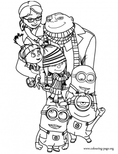 Despicable Me coloring page from colouringpage.org