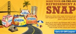 Snapple coupon #Snapple5050