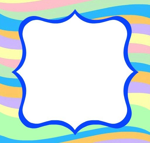 blank square blue
