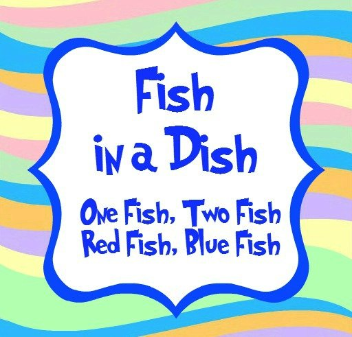 fish in a dish blue