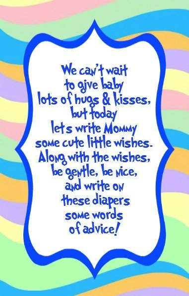 write on diapers blue