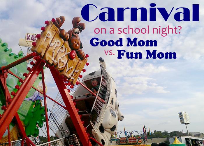 Carnival on a school night #GoodMomFunMom