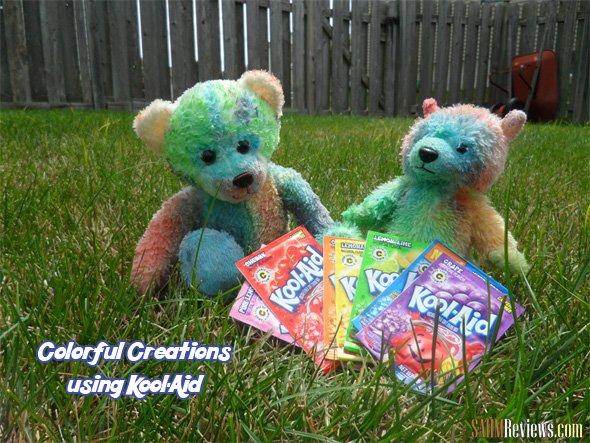 Colorful Creations using Kool-Aid {tie-dye teddy bears} #KoolAidBTRtour #shop #cbias