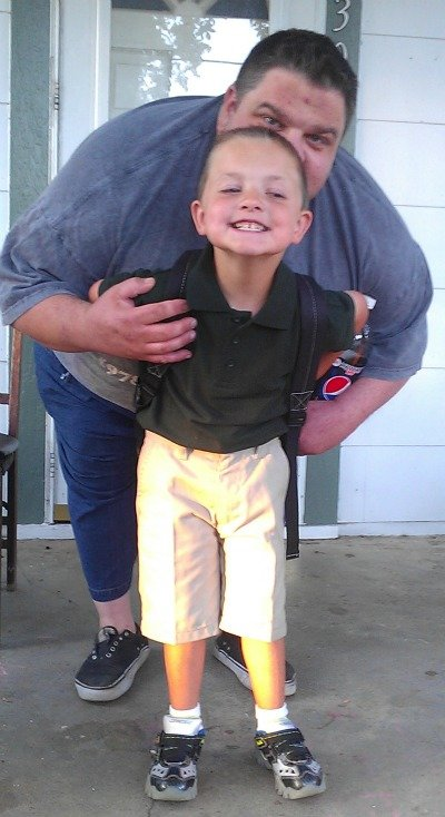 ready for Kindergarten with Daddy