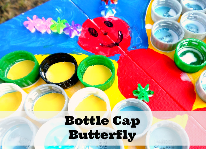 Bottle Cap Butterfly #Fiskars4Kids #shop #cbias