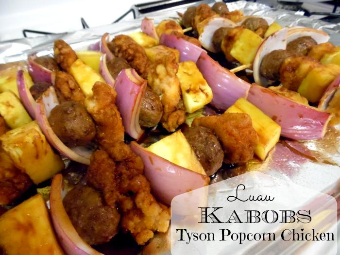 Luau Kabobs Tyson Popcorn Chicken #Tyson2Nite #shop #cbias