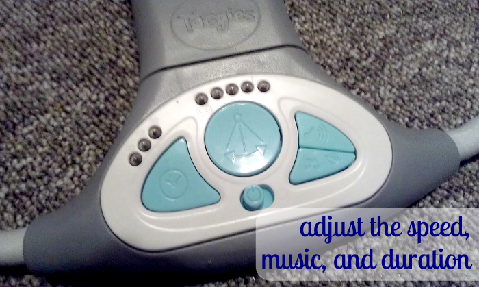 TaGgies Swing N Go Portable Swing: adjust the speed music and duration