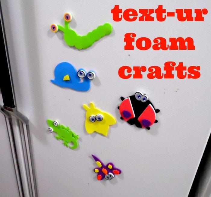 text-UR® Foam crafts magnets