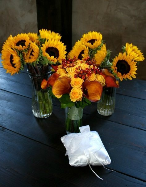 sunflowers and bouquet