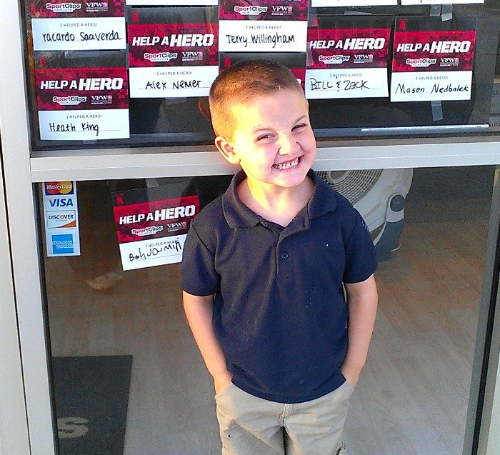 Be A Hero Help A Hero at SportClips