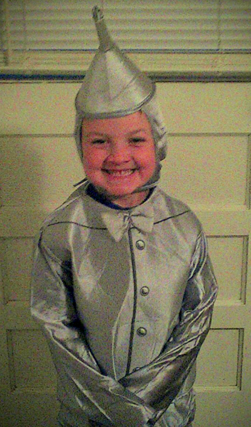 Tin Man costume for Storybook Character day at Kindergarten