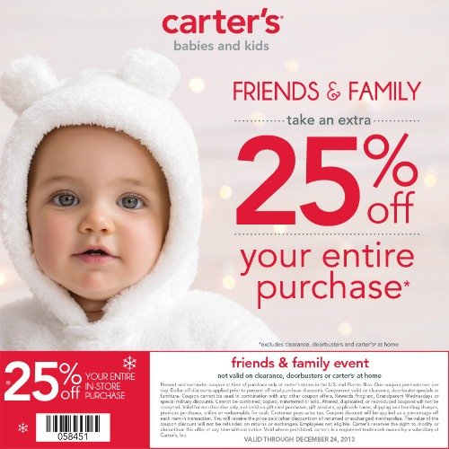 Carter's Friends & Family Coupon #CartersFam #sponsored #MC
