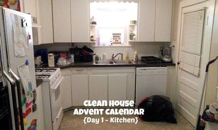 Clean House Advent Calendar {Day 1 - Kitchen}