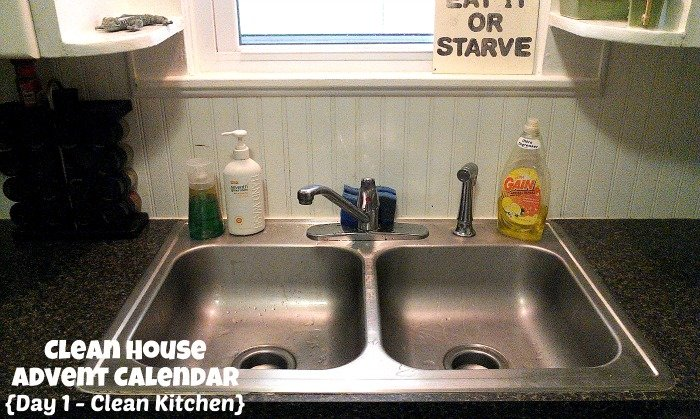 Day 1 - Clean Kitchen {Clean House Advent Calendar}