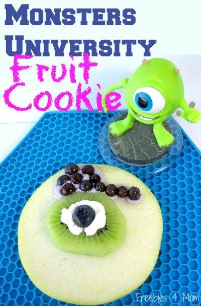 Monsters University Fruit Cookie from Freebies 4 Mom