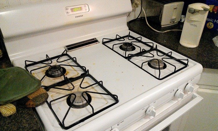 nasty dirty stove