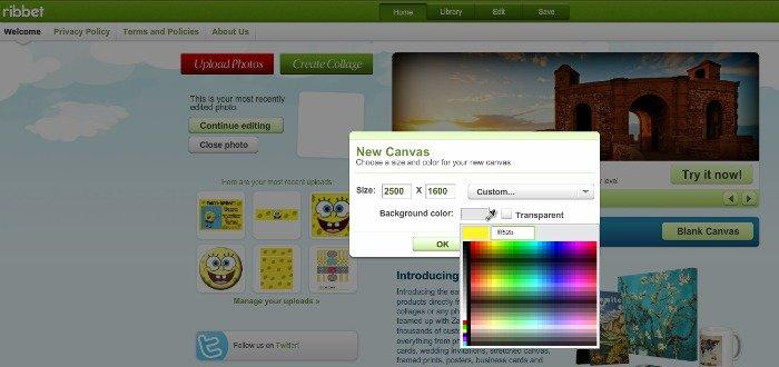 Step 1 - Create a blank canvas {How to Make a SpongeBob SquarePants invitation}