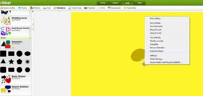 Step 3 - Create duplicate ellipse shapes for more dots {How to Make a SpongeBob SquarePants invitation}