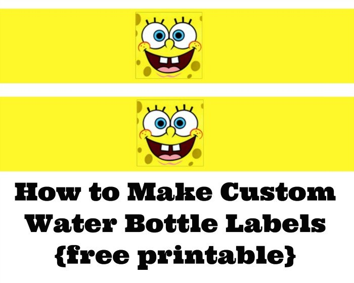 How to Make Custom SpongeBob SquarePants water bottle labels