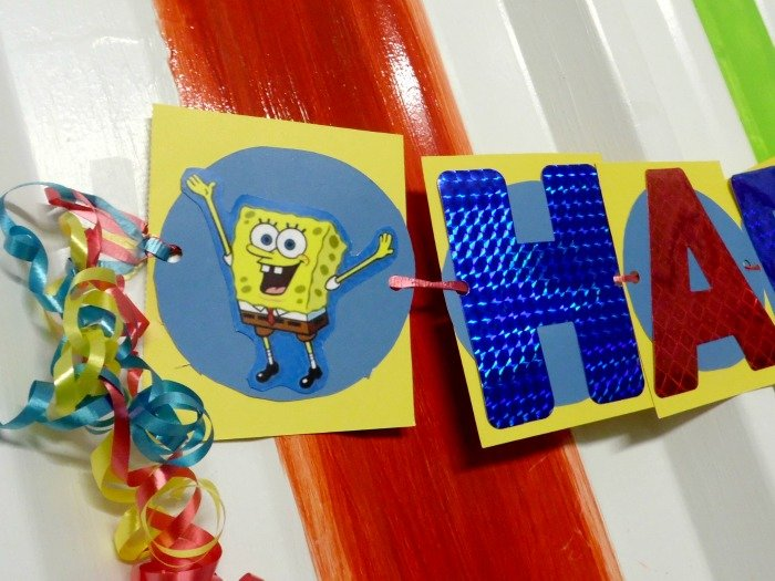 SpongeBob SquarePants birthday party banner