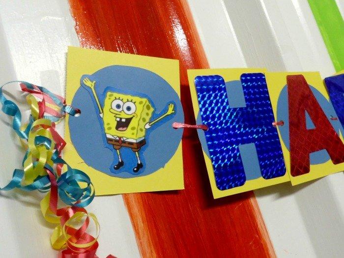 SpongeBob SquarePants birthday party banner