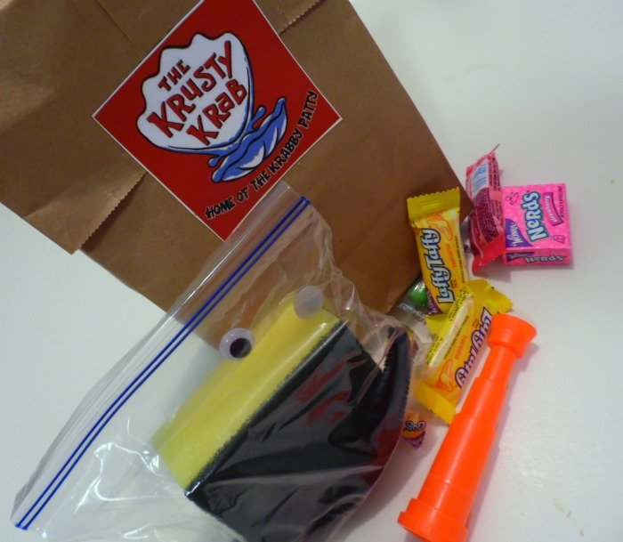 SpongeBob SquarePants party goody bags