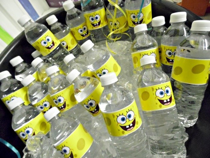 SpongeBob SquarePants party water bottles