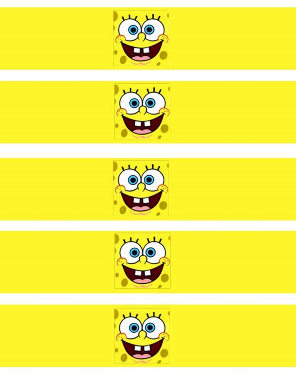 SpongeBob SquarePants water bottle wrappers