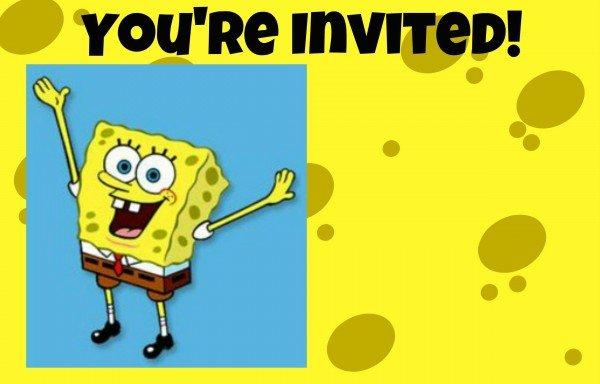 SpongeBob SquarePants invitation free printable